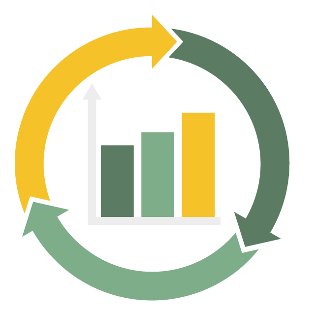 Roundel icon representing measurement