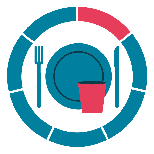 Roundel icon representing food and drink